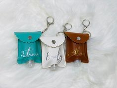 Excited to share this item from my #etsy shop: Customized Hand Sanitizer w/ Keychain Pouch Holder- 30ml Refillable Empty Bottles - Hand sanitizer luggage holder- Keychain- personalized #keychain #monogrammed #customkeychain #personalized #keyfob #keyloop #lanyard #refillablebottle #handsanitazer