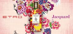 Etro presents the latest addition to the fragrances collection: Jacquard. A delicate balance of defined florals evolves in a statement of New Tradition, in an original expression of authenticity, reminding us of distant travels and faraway lands.