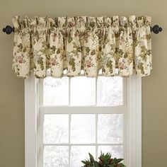 $19.97-$19.99 Baby Waverly Napoli Window Valance, Cameo - Exquisite and versatile, classic Waverly window valances enhance any decor. The 50-inch W by 15-inch L traditional scallop valance offers style with modern accents. All over floral vine design features lovely greens and pinks on neutral ground. Perfect for kitchen, bedroom, living room or bath. http://www.amazon.com/dp/B004Q01MLG/?tag=pin2baby-20