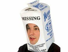 Rasta Imposta Milk Carton Hood, White, One Size Best Halloween Costumes & Dresses USA Easy Costumes, Creative Costumes, Funny Halloween Costumes, Costume Ideas, Amazing Costumes, Costumes Kids, Couple Costumes, Holidays Halloween, Halloween Crafts
