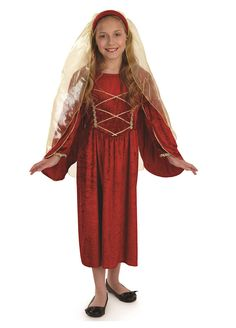 Red Tudor Princess childrens dress up costume by Fun Shack