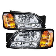 00-04 Subaru Legacy Headlights Headlamps Pair Set Left LH & Right RH