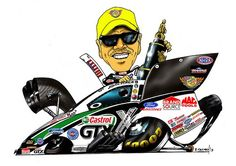 John Force Racing caricature