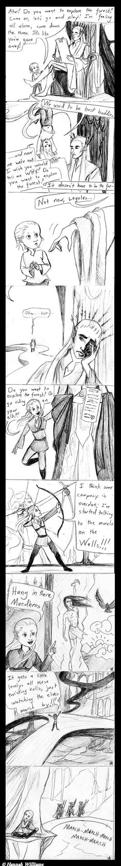 """""""Do You Want to Explore the Forest"""" by Hannah S. J. Williams  ~    So I'm a huge fan of imagining the father and son relationship of Thranduil and Legolas. And I'm a huge fan of Frozen. So what could be better than combing the two??? (Thanks to my brother for brainstorming with me on this. 'Specially for the Maedhros nod.)"""