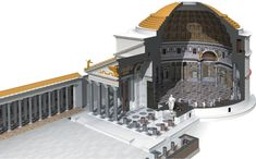 Pantheon. Imperial Roman. 118–125 C.E. Concrete with stone facing. #RomanHistory