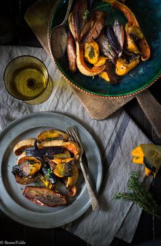 Winter vegetables roasted with honey and thyme | Recipe via Bonne Table