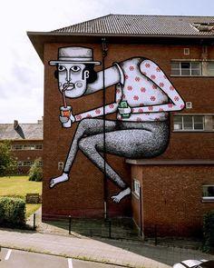 Beautiful Street Art works from Kaleidoscope Art Festival in Belgium Street Wall Art, Best Street Art, Street Graffiti, Graffiti Murals, Wall Murals, Beautiful Streets, Unusual Things, Art Festival, Banksy