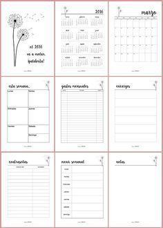 Agenda planificador imprimible y en español, para organizar bien tu tiempo.