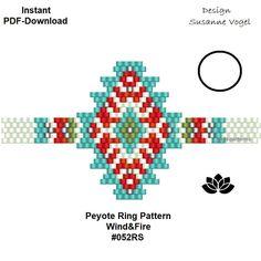Peyote Stitch Patterns, Loom Patterns, Beading Patterns, Peyote Beading, Beading Projects, Beading Tutorials, Bracelet Wrap, Native American Beadwork, Beaded Bracelets