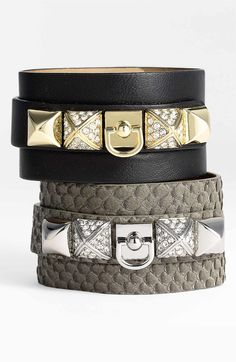 Main Image - Juicy Couture 'Punk Royals' Wide Leather Cuff