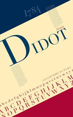 Didot Type Poster by Kat White, via Behance