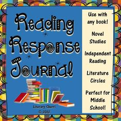"""Ready to print-and-go! This Reading Response Journal emphasizes, """"Reading is thinking!"""" Used individually, in small groups, or whole-class, this is an ideal journal for independent reading, literature circles, or whole-class novel studies. Packed with engaging prompts that encourage close reading, critical thinking, and meaningful writing, this reading journal is perfect for grades 5-8! Model pages, grading rubric, learning objectives, and common core standards are all included."""