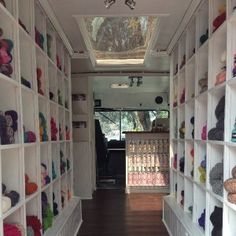 Yarnover Truck - former Little Debbie delivery truck, turned mobile yarn store.  LOVE!!