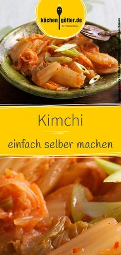 Kimchi, eingelegter Chinakohl Making kimchi yourself: We'll show you a simple recipe of how to make kimchi yourself. Related posts: Chinese cabbage salad with Mie noodles Rice noodles with Chinese cabbage and chicken meat Chinese Noodle Soup Fast Chinese Good Healthy Recipes, Healthy Salads, Superfood, Chinese Cabbage, Chinese Food, Cooking Together, Korean Food, Asian Recipes, Easy Meals