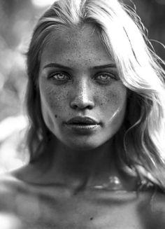 Camilla Christensen is a Danish model. Photo in Black/White | http://theforestmagazine.com/2014/09/exclusive-enchantment-camilla-christensen-by-demetrios-drystellas/: