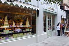 Laduree Paris (1862). The famous luxury French brand invented the double-decker macaron. Opened in NYC 2010 (Madison Ave).