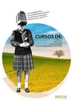 Cartel para cursos de doblaje, locución, ficción sonora...  http://www.coroflot.com/evali