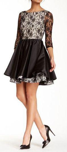 Katelin Double Layer Lace Silk Dress