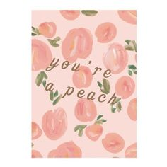 Peach greeting card by NUNUCO® #nunucodesign