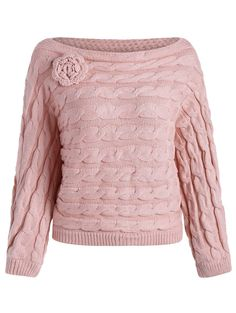 #SammyDress - #Rosewholesale Cable Knit Jumper Sweater - AdoreWe.com