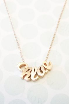 Personalized Rose Gold Name Necklace Rose Gold