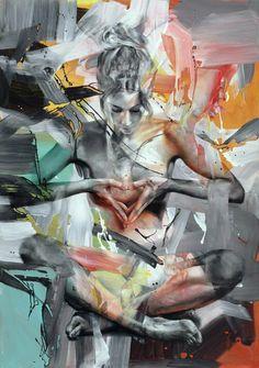 Street Art, Art Drawings Beautiful, New Energy, Diy Canvas Art, Art Abstrait, Figure Painting, Portrait Art, Erotic Art, Figurative Art