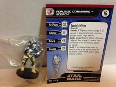 Star Wars Miniatures Champions of the Force 35/60 Republic Commando Scorch (C)