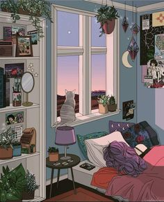 28 collection of bedroom drawing aesthetic high quality free rose gold wallpaper interior grunge Art Inspo, Kunst Inspo, Animes Wallpapers, Cute Wallpapers, Aesthetic Art, Aesthetic Anime, Aesthetic Drawings, Aesthetic Bedrooms, Night Aesthetic