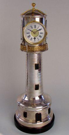 A Lighthouse Clock by Andre Romain Guilmet, c1880 Paris