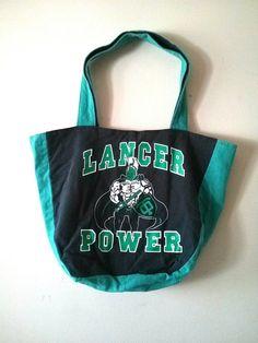 OKA BAG - Green+Black+Grey // 100% Handmade // Repurposed // Upcycled // Reversible // Tote Bag // Grocery Bag // Book Bag //