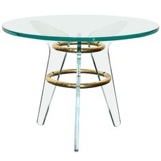 Glass Italian Table Made in 1940s | From a unique collection of antique and modern coffee and cocktail tables at http://www.1stdibs.com/furniture/tables/coffee-tables-cocktail-tables/