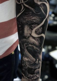Realistic Forearm Men's Viking Dragon Tattoo