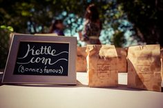 DIY kettle corn wedding favors | Becky & Bonnie's rustic, DIY Maryland farm wedding | Images: A Lovely Photo