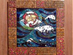 Emaillekunst van Jos Melchers: 'De schepping, dag 1'.