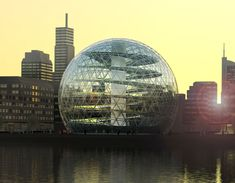 Swedish-American Plantagon has built a structure in Sweden to attempt to tackle not being able to buy some organic fruits & vegetables all year long. So, they built a greenhouse in the form of a large glass globe where organic crops are grown in the middle of their urban environment. By growing in the middle of cities where most people in the future will stay avoids long transportation. This is both fascinating & beautiful! ♥