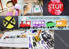 Transportation Crafts & Activities from learncreatelove.com