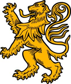 For the details on the side of Cersei's dress Rampant Lion clip art - vector clip art online, royalty free & public domain