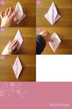 Origami Kraniche Tutorial - Teil 3