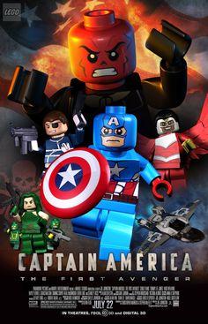Lego Captain America Lego Marvel's Avengers, Lego Batman, Lego Marvel Super Heroes, Avengers Movies, Marvel Movies, Avengers Age, Ms Marvel, Marvel Funny, Age Of Ultron