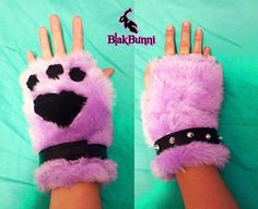 Cute Lilac Purple Black Furry Cosplay Cat Kitty Neko by BlakBunni, $20.00