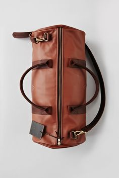 I Love Ugly duffle bag. - I Love Ugly Leather Duffle Bag, Leather Box, Brown Leather, Leather Luggage, Leather Shoes, Sac Week End, I Love Ugly, Mens Fashion Blog, Men's Fashion