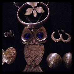 "Spotted while shopping on Poshmark: ""Owl set (bundle will separate)""! #poshmark #fashion #shopping #style #Jewelry"