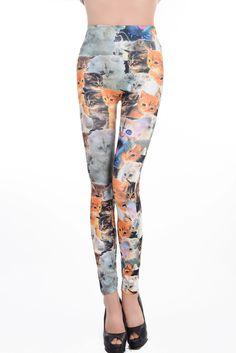 Fashion Women Punk Sexy Floral Printed Free Size Stretchy Pencil Leggings Pants   eBay