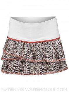 Lucky in Love Girl's Mini Leopard Print Tier Skirt