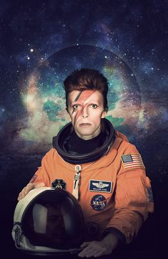 David Bowie Astronaut Poster A Major Tom Space por Redfunkovich