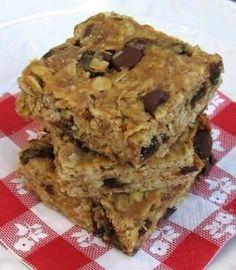 Peanut Butter-Oatmeal Granola Bars = Gluten Free, Lactose Free, Soy Free. High Fiber.