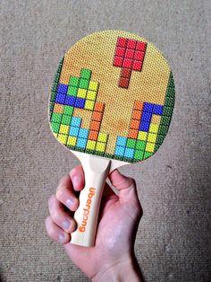 Tetris Design On Custom Made Ping Pong Bat Uberpong Pingpong Tabletennis