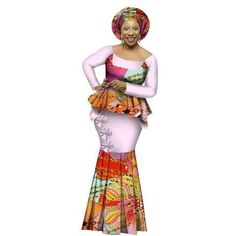 African Style Top and Long Skirt Women Cotton Print Kitenge Ankara O-Neck African Dashiki, Evening Dresses Plus Size, Long Skirts For Women, Kitenge, African Style, Ankara, Skirt Set, Sleeves, Cotton