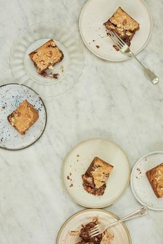 Almond and smoked salt blondies - Anna Jones's recipes from A Modern Cook's Year Sweets Recipes, Cooking Recipes, Healthy Recipes, Healthy Foods, Desserts, Anna Jones Recipes, Book Extracts, Vegan Bar, Little Cakes
