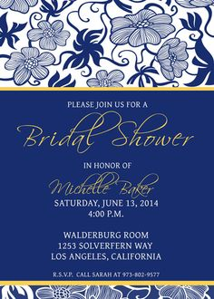 Custom Bridal Shower Invitation Template  by CBDesignCollection, $10.00